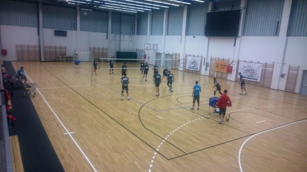 Edzésben a Ceske Budejovice együttese a Don Bosco Sportközpontban a Challenge Kupa-mérkőzést megelőző napon.
